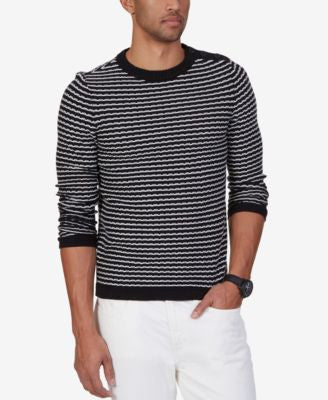 Nautica Men's Texture Stripe Sweater