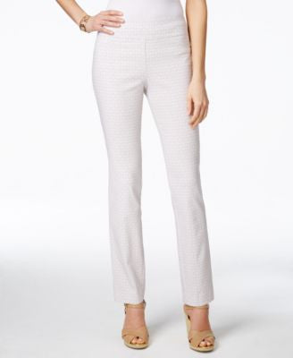 Charter Club Petite Geo-Print Pull-On Pants, Only at Vogily