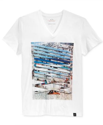 Armani Exchange Men's Horizon Break V-Neck T-Shirt