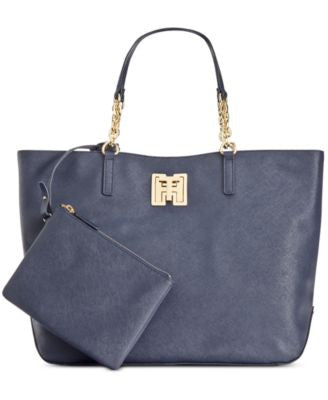 Tommy Hilfiger Clara Textured Leather Tote