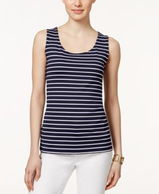 Charter Club Sleeveless Striped Top, Only at Vogily