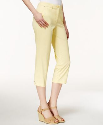 Charter Club Cropped Twill Pants, Only at Vogily
