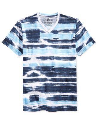 American Rag Men's Watercolor Striped T-Shirt, Only at Vogily