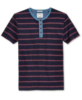 Lucky Brand Men's Striped Henley Shirt