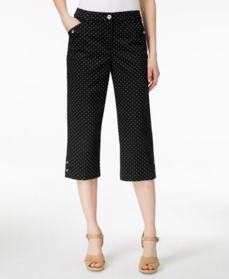 Karen Scott Dot-Print Capri Pants, Only at Vogily