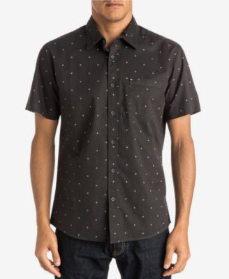 Quiksilver Men's Micro-Square Pattern Short-Sleeve Shirt