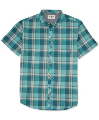 Billabong Men's Bridges Plaid Short-Sleeve Shirt