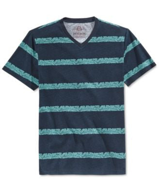 American Rag Men's Wave Stripe V-Neck T-Shirt, Only at Vogily