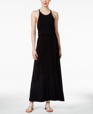 Calvin Klein Jeans Lace-Back Maxi Dress