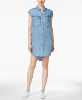 Calvin Klein Jeans Denim Sleeveless Shirtdress