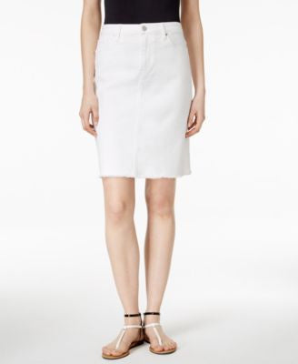 Calvin Klein Jeans Denim Released-Hem Skirt