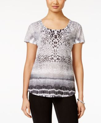 Style & Co. Printed Short-Sleeve Top, Only at Vogily
