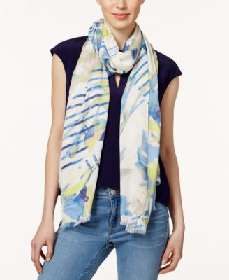 Vince Camuto Stripe Splash Oblong Scarf
