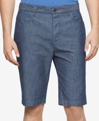 Calvin Klein Jeans Men's Coated Blue Shorts