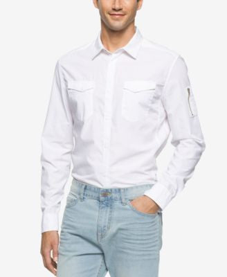 Calvin Klein Jeans Men's Garment Dyed Aviator Shirt