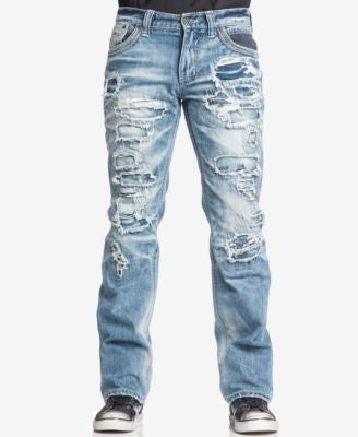 Affliction Men's Blake Fleur Relaxed Denim Chicago Wash Jeans