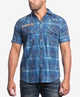 Affliction Men's Mind Games Woven Shirt