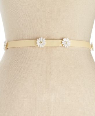 kate spade new york Saffiano Daisies Skinny Belt