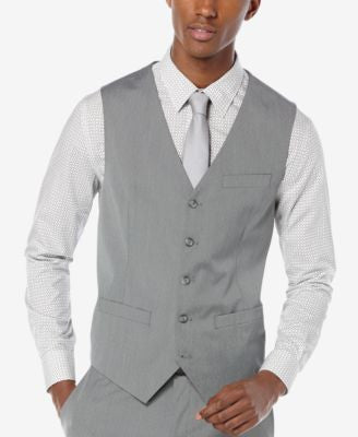 Perry Ellis Men's Texture Basketweave Vest