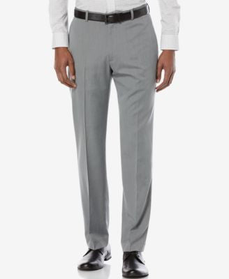 Perry Ellis Men's Classic-Fit Texture Basketweave Dress Pants