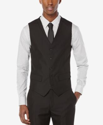Perry Ellis Men's Slim-Fit Tonal-Stripe Suit Vest