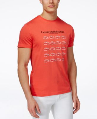 Lacoste Men's Twenty Crocs Graphic-Print Logo T-Shirt