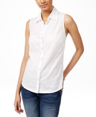 Karen Scott Sleeveless Shirt, Only at Vogily