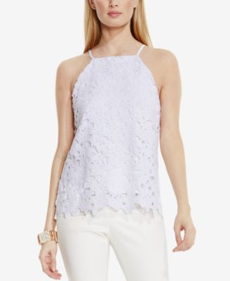 Vince Camuto Floral-Lace Halter Top