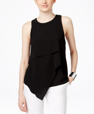 Vince Camuto Layered Asymmetrical-Hem Blouse