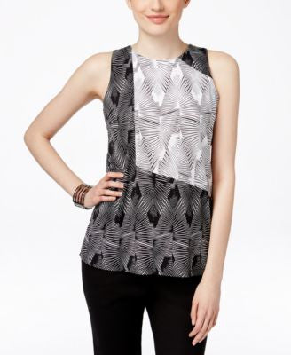 Vince Camuto Sleeveless Printed Top