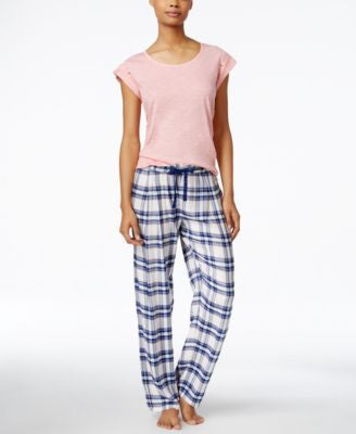 Tommy Hilfiger Cap-Sleeve Top & Pajama Pants Sleep Separates