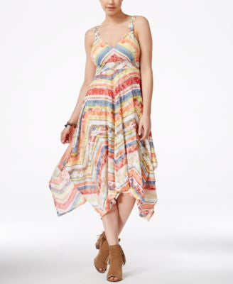 American Rag Juniors' Printed Handkerchief-Hem Dress, Only at Vogily