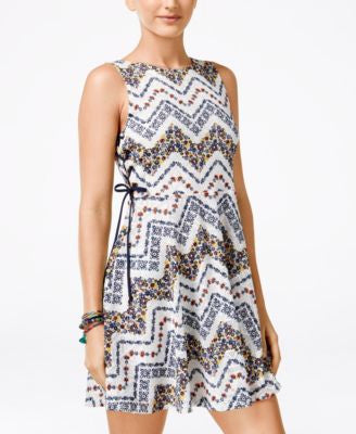 American Rag Juniors' Printed A-Line Dress, Only at Vogily