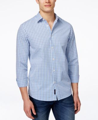 Michael Kors Men's Reed Tailored Check Long-Sleeve Shirt