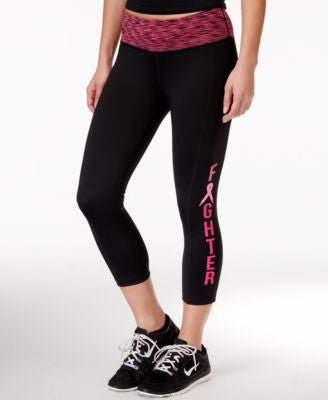 Ideology Fighter Pink Ribbon Capri Leggings, Only at Vogily