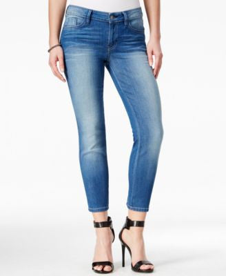 GUESS Cropped Mid-Rise Conway Wash Skinny Jeans