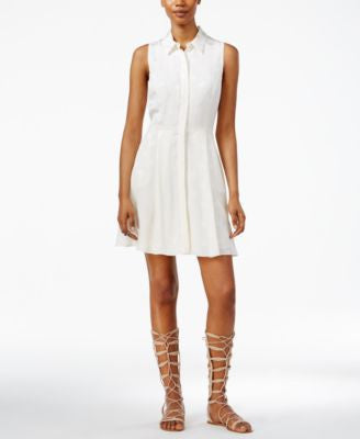 RACHEL Rachel Roy Fit & Flare Shirtdress