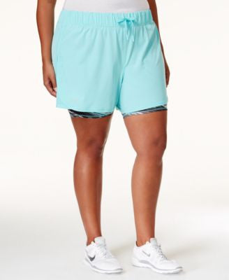 Ideology Plus Size 2-in-1 Shorts, Only at Vogily