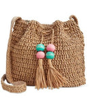 INC International Concepts Leiya Straw Bucket Bag, Only at Vogily