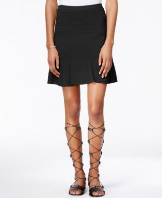 RACHEL Rachel Roy Mesh Fit & Flare Skirt