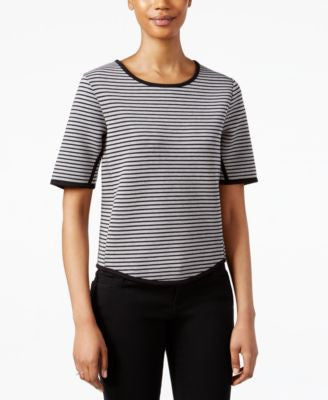 RACHEL Rachel Roy Short-Sleeve Striped Top