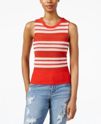 RACHEL Rachel Roy Sleeveless Striped Shell
