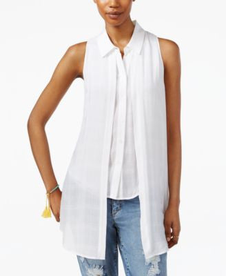 RACHEL Rachel Roy Sleeveless High-Low Shirt