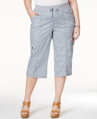 Style & Co. Sport Plus Size Woven Capri Pants, Only at Vogily