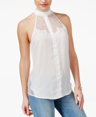 GUESS Serena Lace High-Neck Top