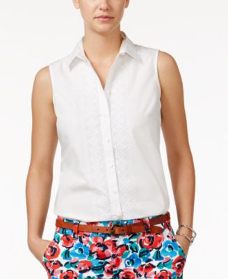 Tommy Hilfiger Embroidered Sleeveless Shirt