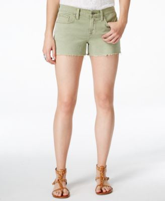 Lucky Brand Cutoff Army Fade Wash Cutoff Shorts