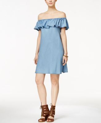 Velvet Heart Mali Ruffled Off-The-Shoulder Shift Dress
