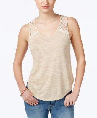 Miss Me Lace-Detail Tank Top