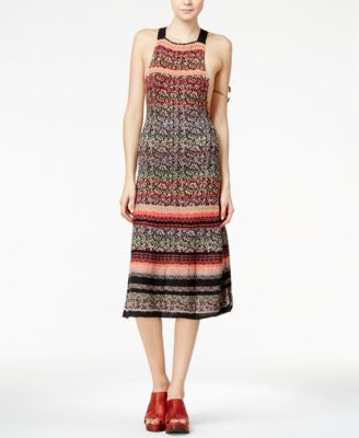 Free People Midnight Flowers Midi Dress